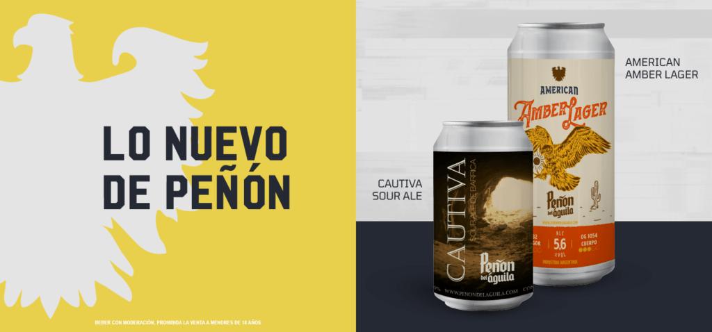 CAUTIVA SOUR ALE DE BARRICA y AMERICAN AMBER LAGER, las 2 nuevas latas.